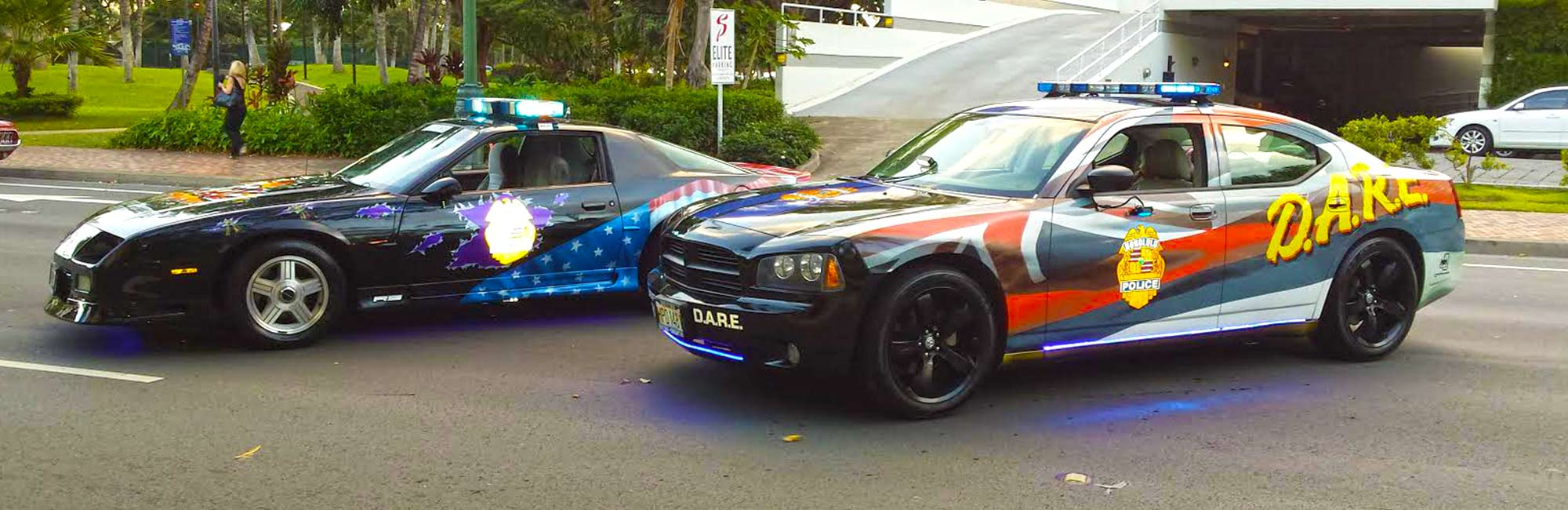 image of Oahu D.A.R.E. cars