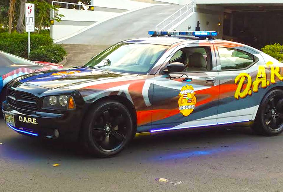 image of Oahy D.A.R.E. car